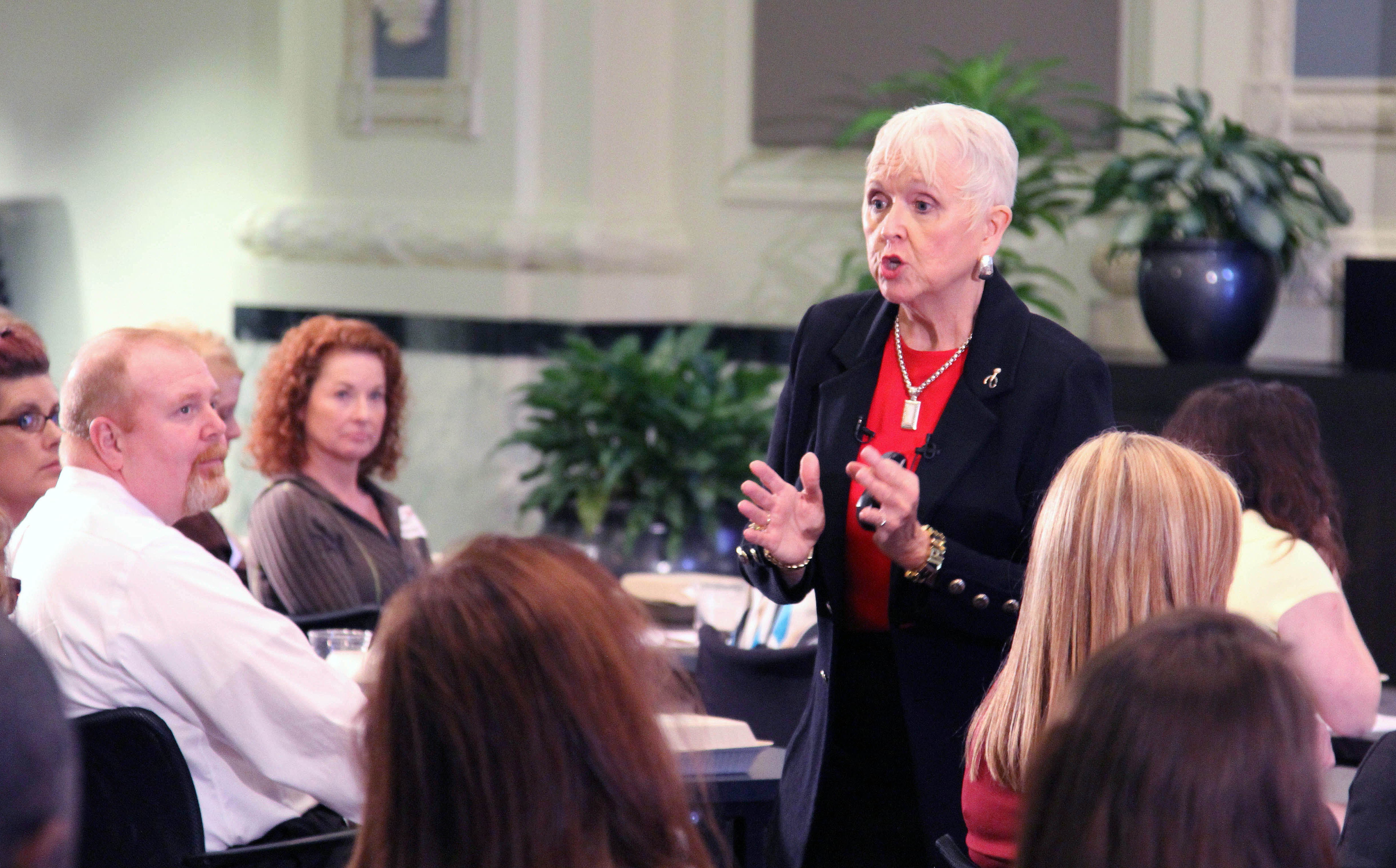 Experienced speaker Mary Redmond