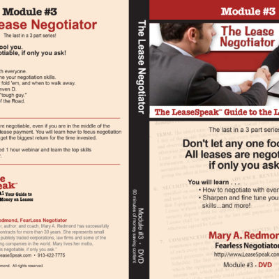 Module 3 The Lease Negotiator