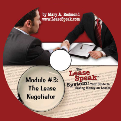 Module #3 The Lease Negotiator